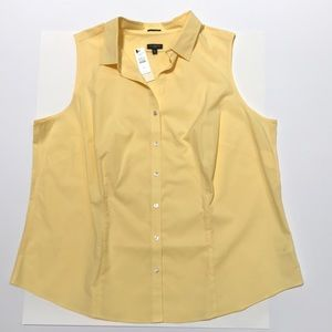 NWT Lemon yellow sleeveless blouse 18W by Talbots